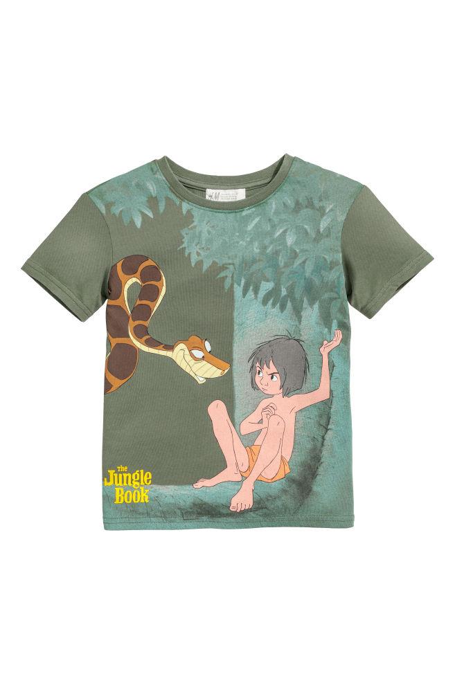 Printed T Shirt Dark Green The Jungle Book Kids H M