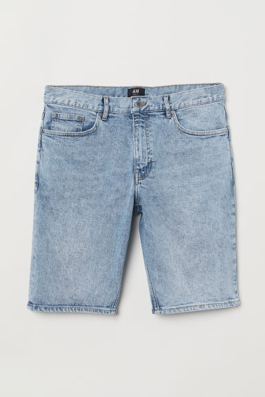 Shorts in denim Slim Fit - Azzurro washed out - UOMO | H&M IT