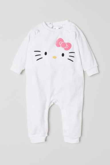 Pyjama en velours - Blanc/Hello Kitty - ENFANT | H&M CH