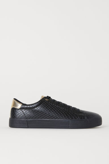 Snakeskin-patterned trainers - Black/Snakeskin-patterned - Men | H&M