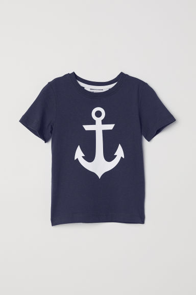 Printed T-shirt - Dark blue/Anchors - Kids | H&M