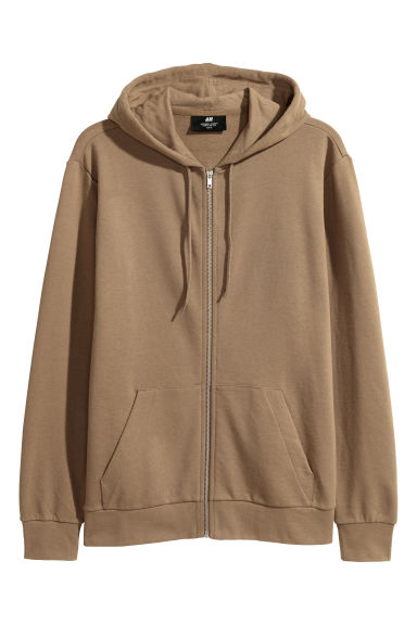 Hooded jacket Regular fit - Dark beige -  | H&M