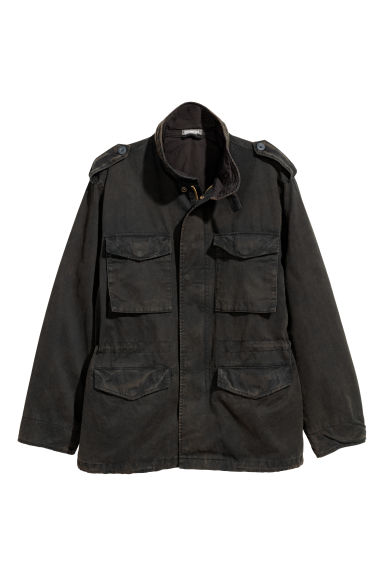 Short parka - Black - Men | H&M CN