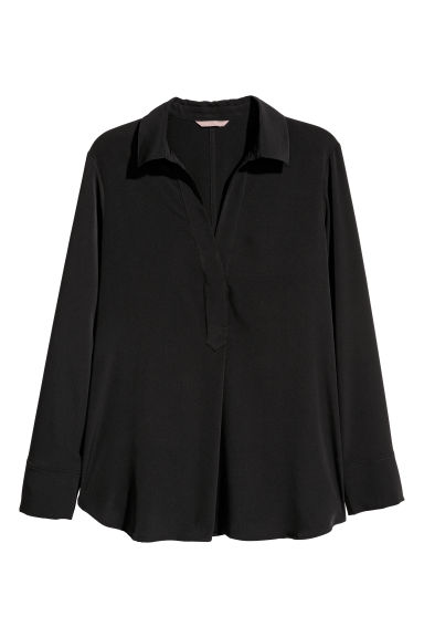 H&M+ Blouse - Black - Ladies | H&M IE