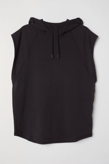 Sleeveless sports top - Black - Men | H&M GB