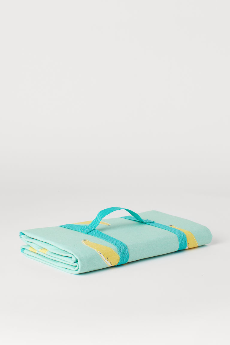Picnic blanket - Mint green/Bananas - Home All | H&M GB
