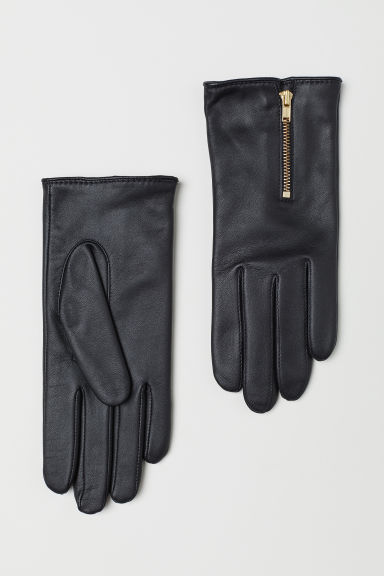 Leather gloves - Black - Ladies | H&M