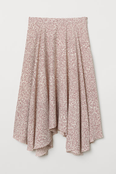 Patterned skirt - Powder beige/Patterned - Ladies | H&M