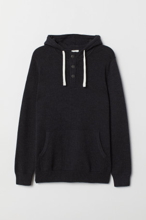 Hooded jumper with buttonsModel
