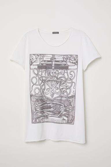 T-shirt con stampa - Bianco/scheletro -  | H&M IT
