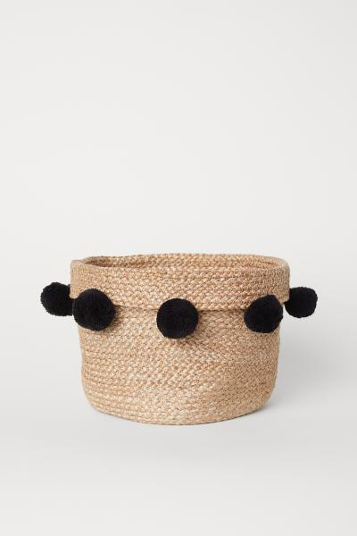 H&M - Storage basket with pompoms - 1