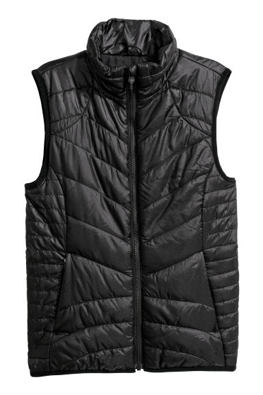 Padded outdoor gilet - Black - Ladies | H&M CN