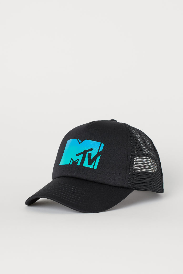 Printed cap - Black/MTV - Men | H&M