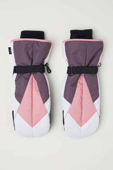 Ski mittens - White/Purple/Pink - Ladies | H&M GB