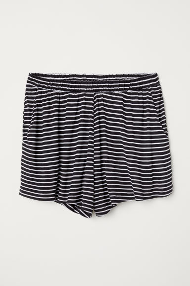 Wide shorts - Black/Striped - Ladies | H&M GB