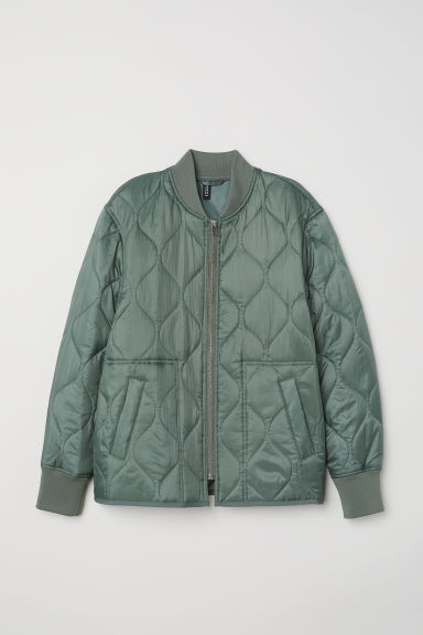Quilted jacket - Khaki green - Ladies | H&M