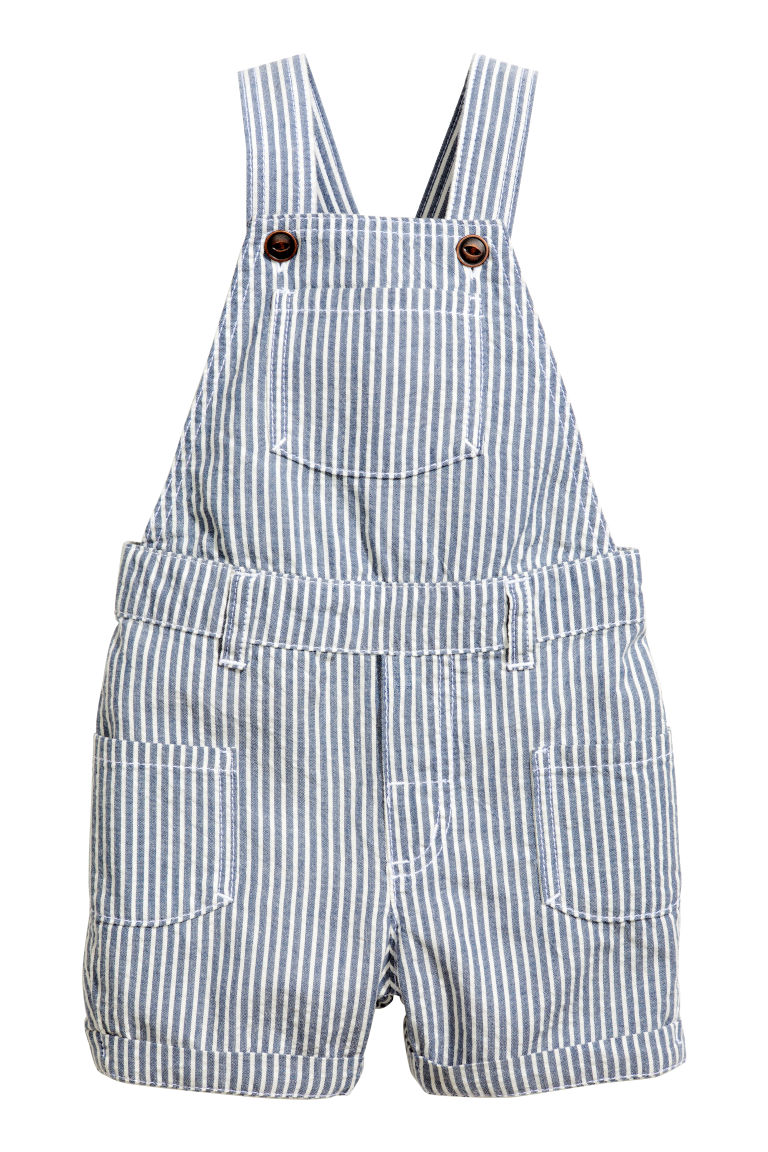 T-shirt and dungarees - Blue/White - Kids | H&M GB