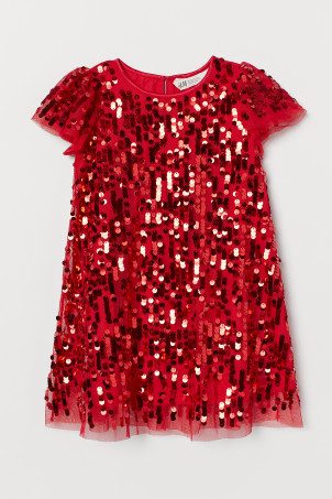 Empire-line Sequined Dress