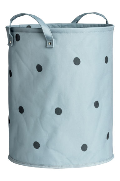 Storage basket - Pigeon blue/Black spotted - Home All | H&M CN