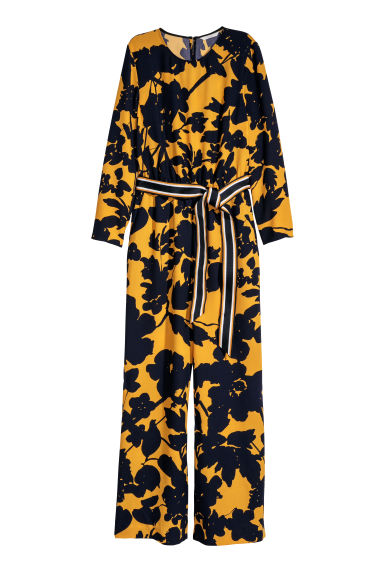Jumpsuit - Yellow/Patterned -  | H&M CN