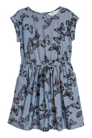 Patterned dress - Blue/Butterflies - Kids | H&M