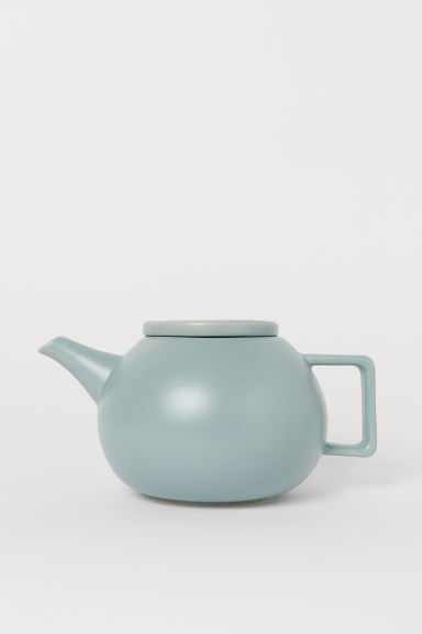 Stoneware Teapot - Light turquoise - Home All | H&M US