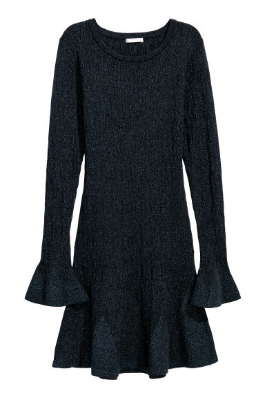 Dress - Black/Glitter - Ladies | H&M IE