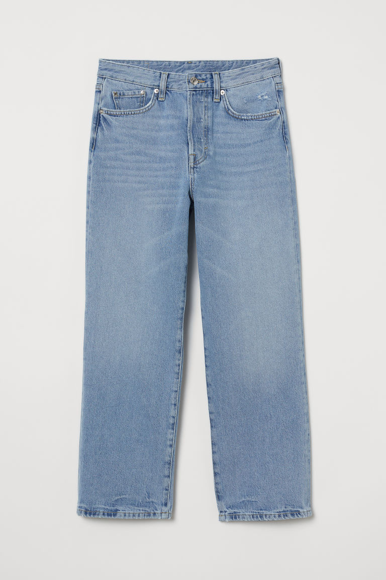 Straight High Ankle Jeans - Светлосин деним -  | H&M BG