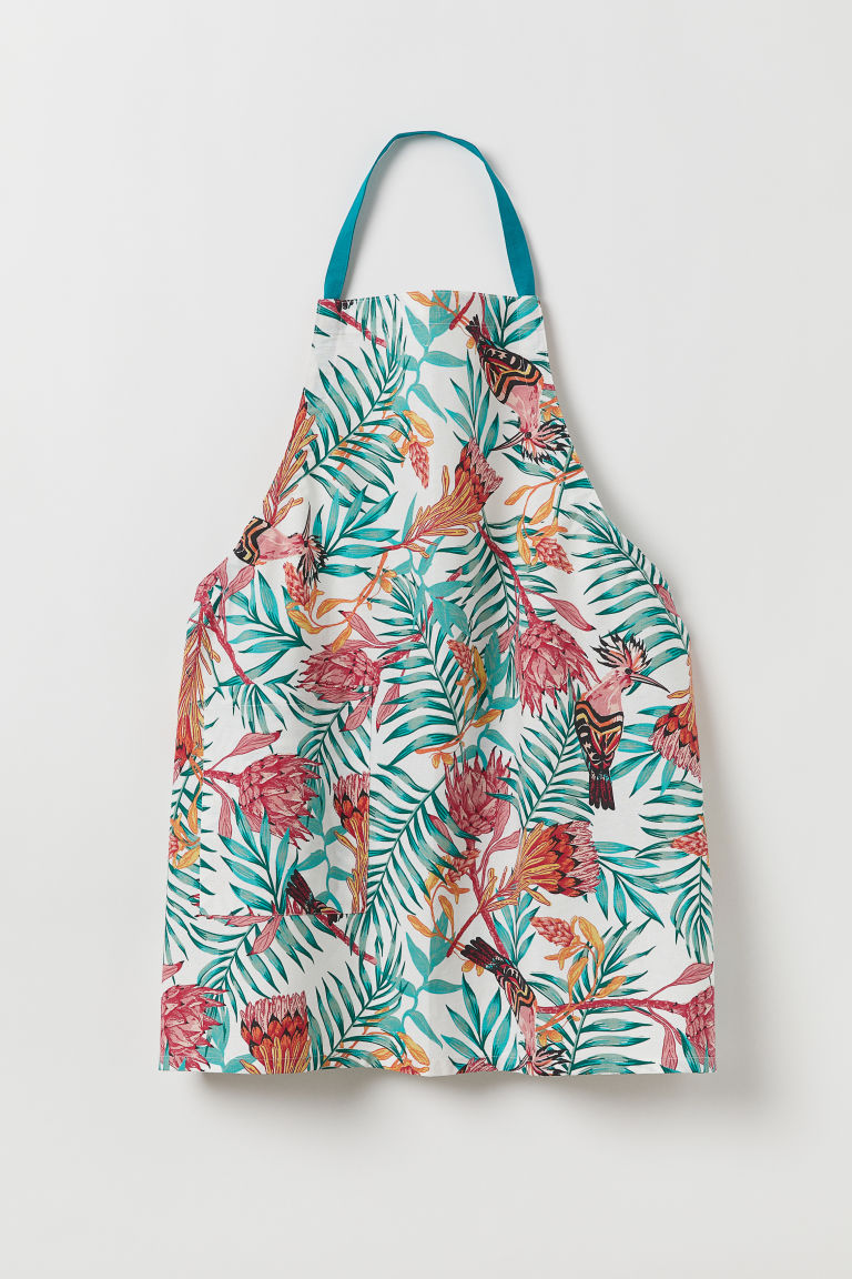 Patterned Apron - Turquoise/patterned - Home All | H&M CA