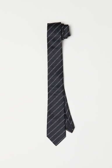 Tie with text - Black - Men | H&M