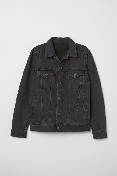 Denim jacket - Black denim - Ladies | H&M