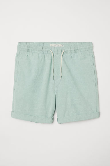 Knee-length cotton shorts - Light green - Men | H&M CN