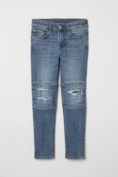 Skinny Fit Biker Jeans - Denim blue - Kids | H&M CN