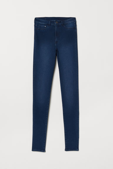 Super Skinny High Jeggings - Dark denim blue - Ladies | H&M CN