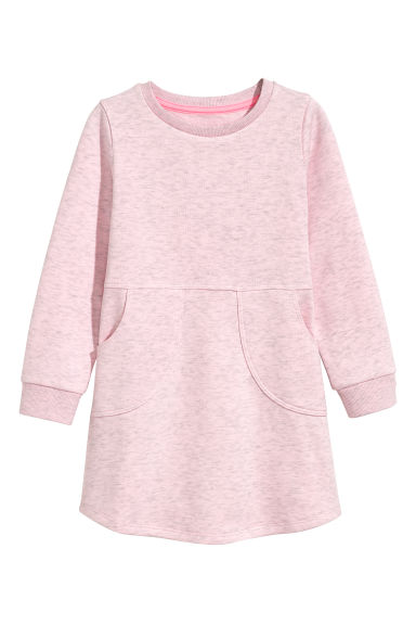 Robe en molleton - Rose clair chiné -  | H&M FR