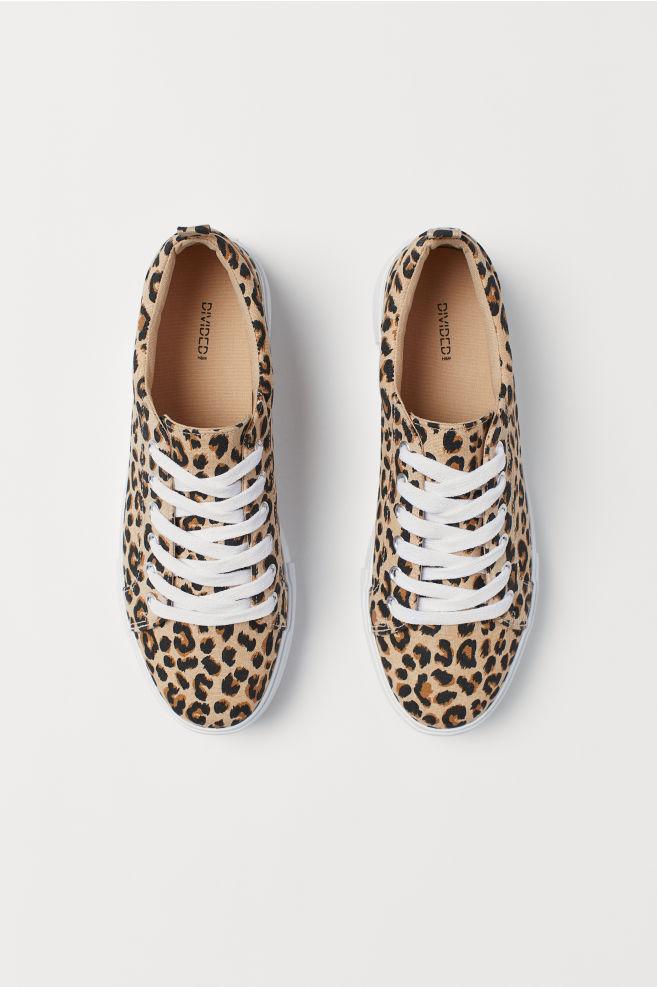 53c15ce7a944 Platform Sneakers - Beige leopard print - Ladies