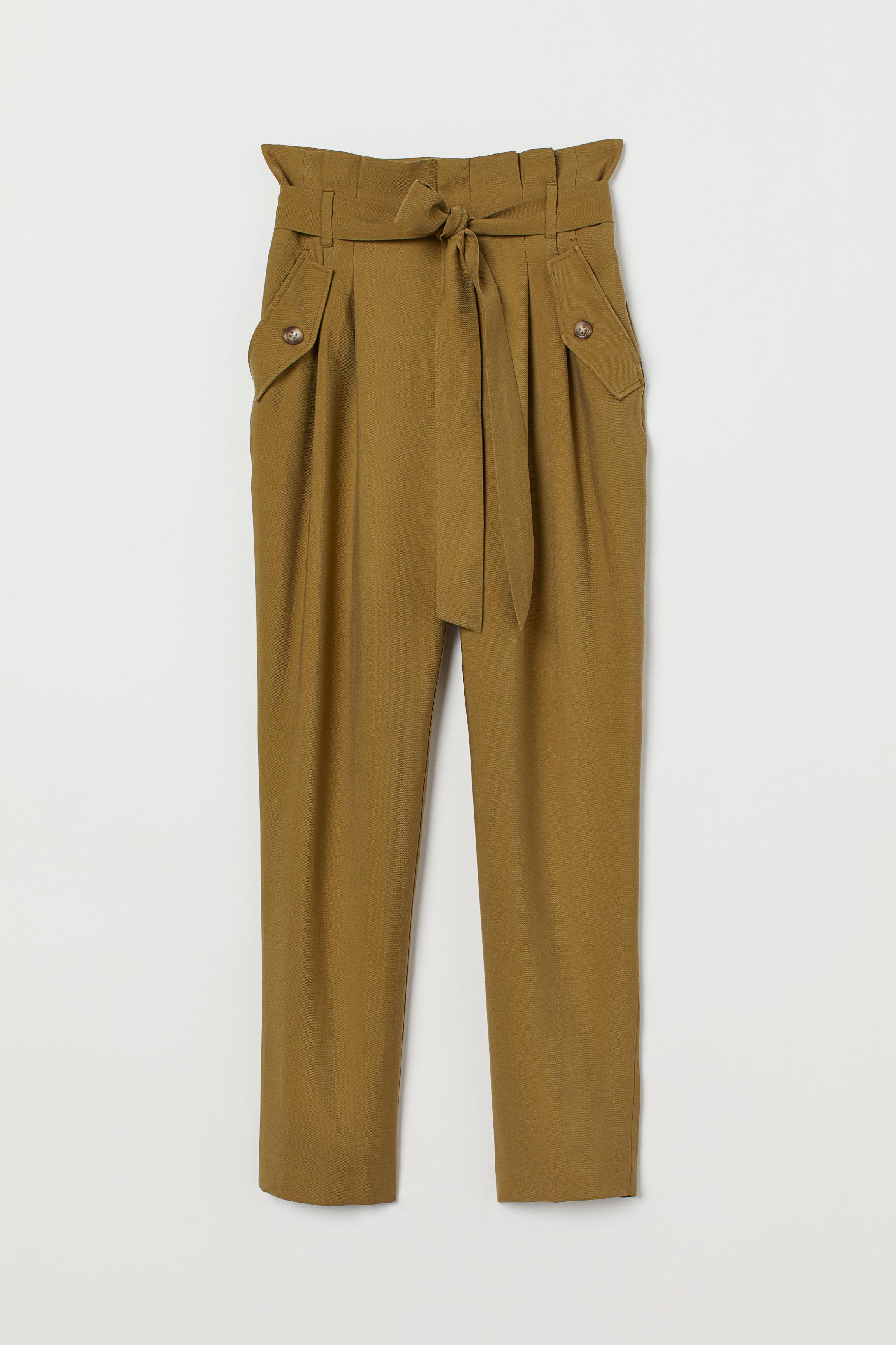 Pants with Tie Belt