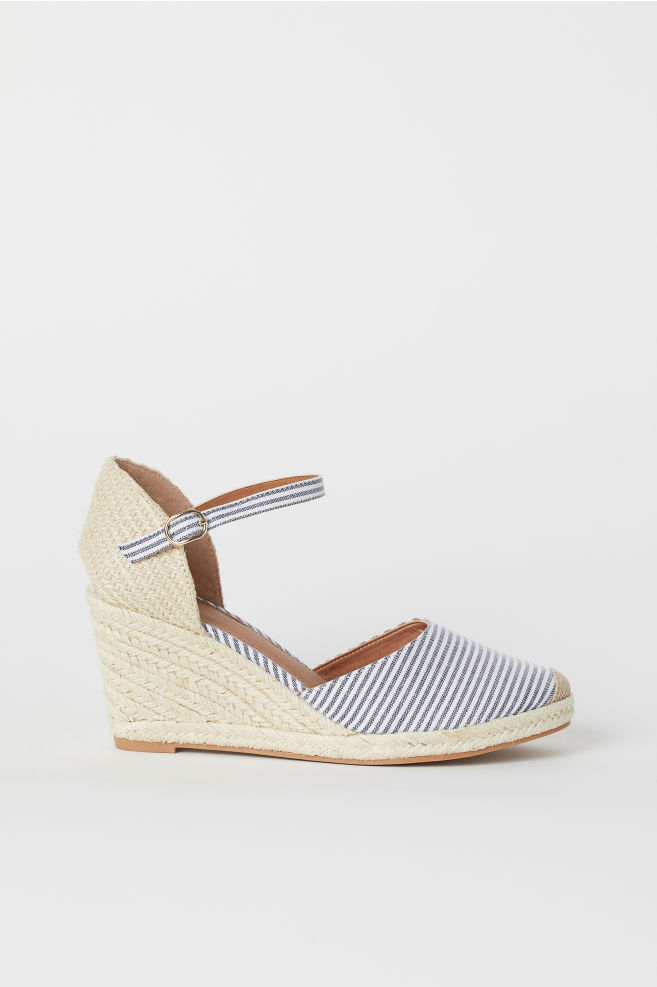 ebcc11d676 Sandals - White/Blue striped - Ladies | H&M ...