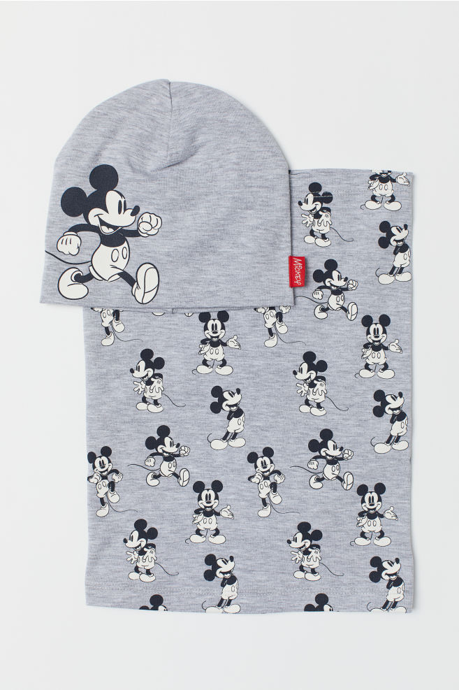 Dzsörzésapka és csősál - Light grey marl Mickey Mouse - GYEREK  7aa77bd3f1