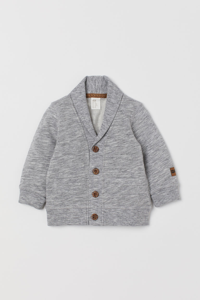 Sweatshirt cardigan - Light grey marl - Kids | H&M IN