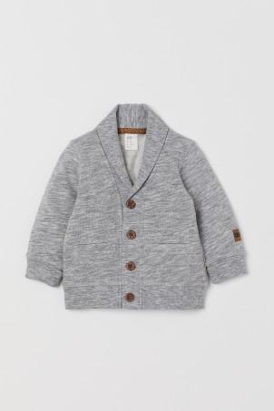 Cardigan in felpaModello