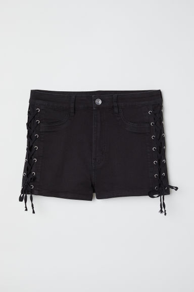 Shorts with lacing - Black -  | H&M CN