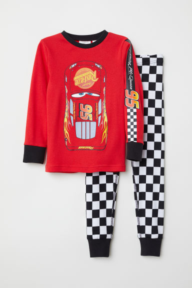 Jersey pyjamas - Red/Lightning McQueen - Kids | H&M CN
