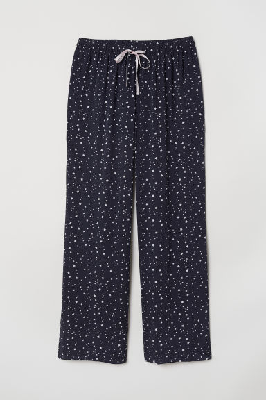 Patterned pyjama bottoms - Dark blue/Stars - Ladies | H&M CN