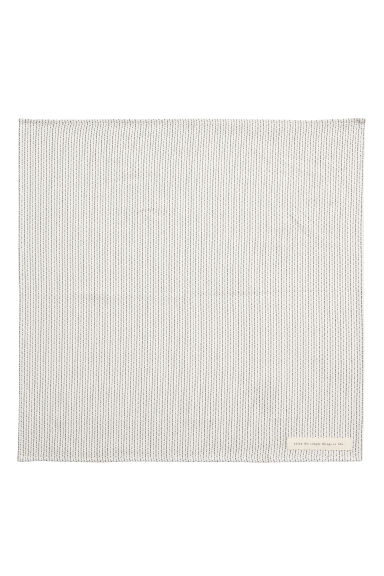 Jacquard-weave Cotton Napkin - Natural white/dark gray - Home All | H&M CA