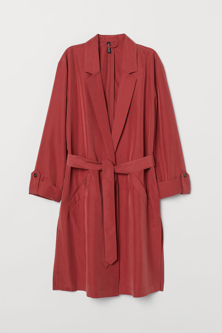 Trenchcoat van modalmix - Roestrood -  | H&M BE