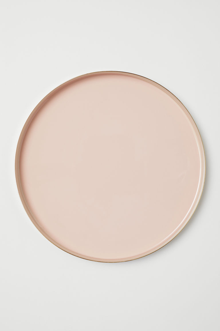 Large Metal Dish - Powder pink/gold-colored - Home All | H&M US