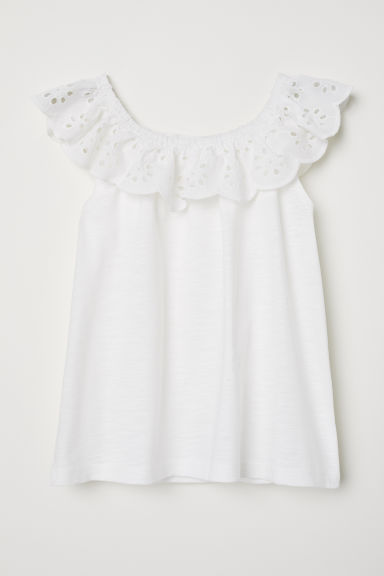 Bohemian blouse - White - Kids | H&M
