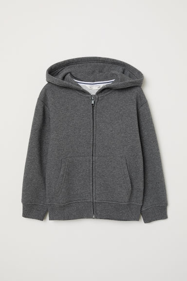 Hooded jacket - Dark grey marl - Kids | H&M