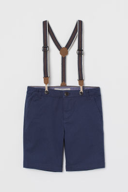 111fe8c87ba0b Chino Shorts with Suspenders